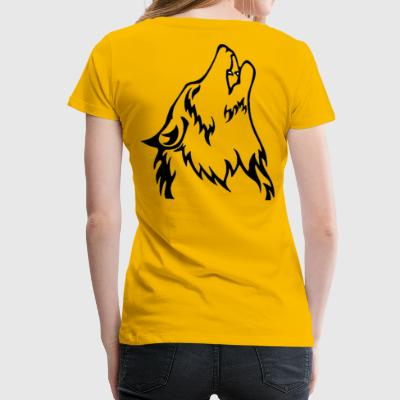 Wolf (back) - Women's Premium T-Shirt