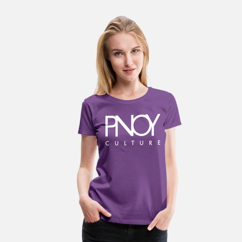 Filipino T-Shirts - PNOY Filipino Culture by AiReal Apparel - Women's Premium T-Shirt purple