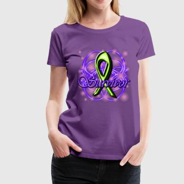 Lymphoma Survivor Ribbon - Persephone Productions - Women's Premium T-Shirt