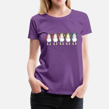 Unicorn Funny Unicorns - Women's Premium T-Shirt