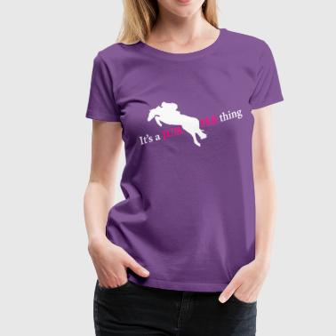 HunterJumper1JumperThing - white/pink - Women's Premium T-Shirt