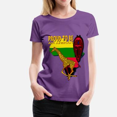 African Man Proud To Be An African - Women's Premium T-Shirt