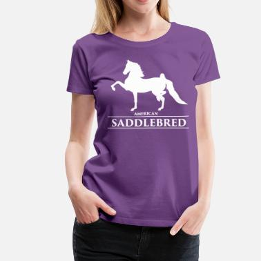 c2b0ebfc American Saddlebred Saddlebred1 - white - Women's Premium T-Shirt.  Women's Premium ...