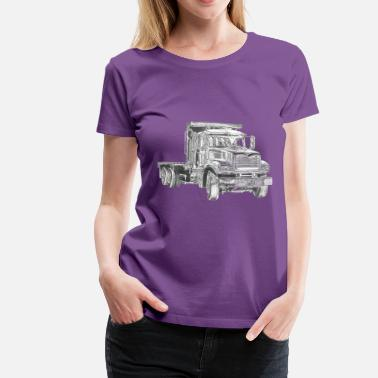 Flatbed Flatbed Truck - Women's Premium T-Shirt