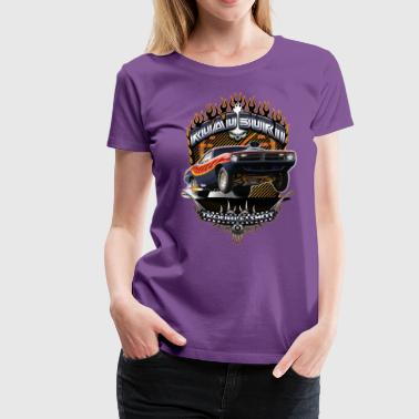 Plymouth Barracuda Barracuda Road Burn - Women's Premium T-Shirt