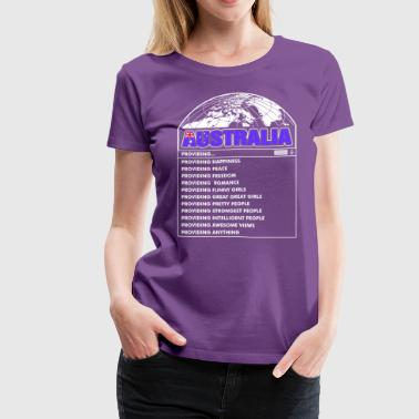 Australia Funny Girls - Women's Premium T-Shirt