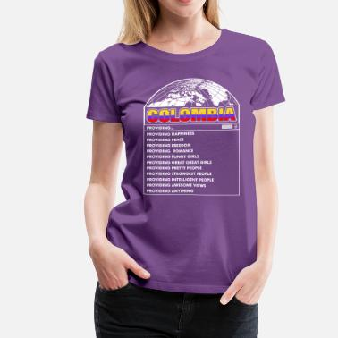 Colombia Funny Colombia Funny Girls - Women's Premium T-Shirt