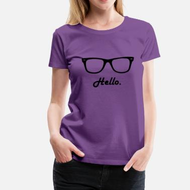 hipster glasses - Women's Premium T-Shirt
