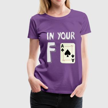 Sound Bite In your face white - Women's Premium T-Shirt