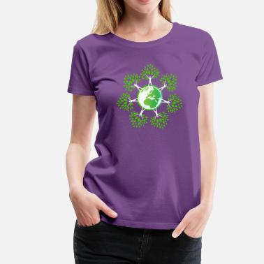 Earth Day 2018 Earth Day Tree People (2c - Women's Premium T-Shirt