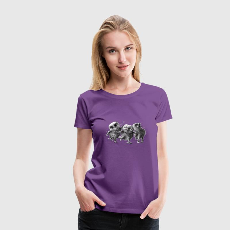 Three Crazy Owls - Women's Premium T-Shirt