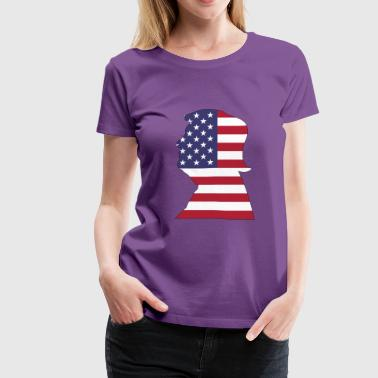 American Trump With Stroke - Women's Premium T-Shirt