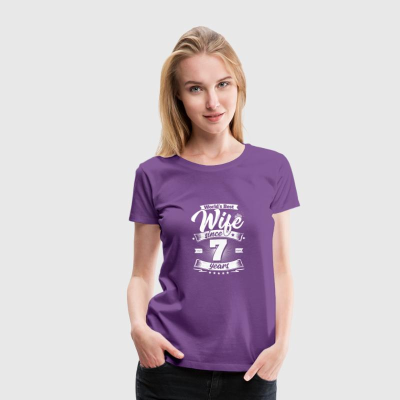 Wedding Day 7th Anniversary Gift Wife Spouse - Women's Premium T-Shirt