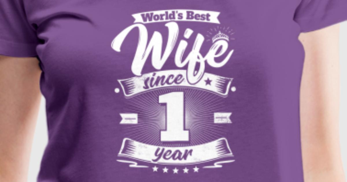 Wedding day 1st anniversary gift wife spouse by easyteezy spreadshirt