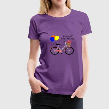 Happy Birthday Bicycle - Women's Premium T-Shirt