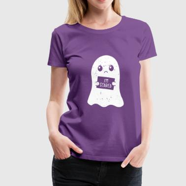 I'm Scared Ghost Halloween Kids Gift - Women's Premium T-Shirt