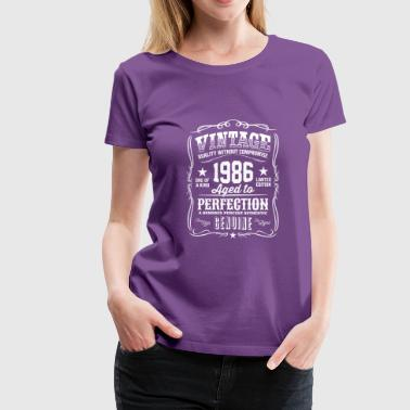 1986 Aged To Perfection Vintage 1986 Aged to Perfection - Women's Premium T-Shirt