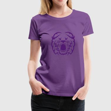 Tiger Lion Face tribal lion face - Women's Premium T-Shirt