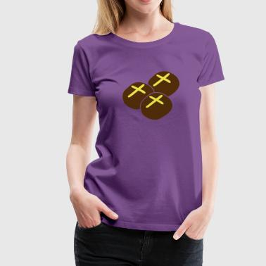 three hot cross buns with crosses - Women's Premium T-Shirt