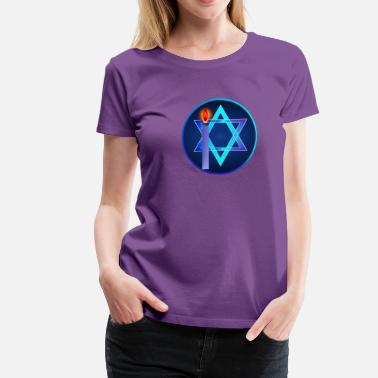 Star Of David Star Of David and Light - Women's Premium T-Shirt