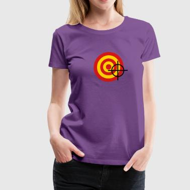 target with a targeting - Women's Premium T-Shirt