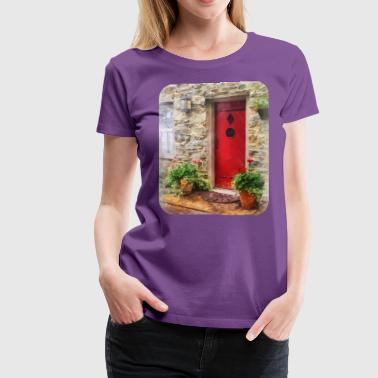 Geraniums by Red Door - Women's Premium T-Shirt