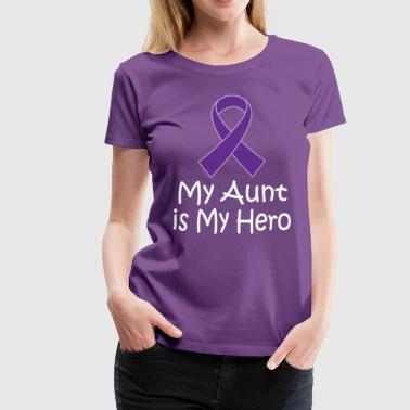 Alzheimers Lupus Pancreatic Cancer Aunt Is My Hero - Women's Premium T-Shirt
