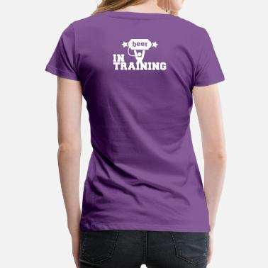 Shamrock Star beer in training with lifting man and stars - Women's Premium T-Shirt