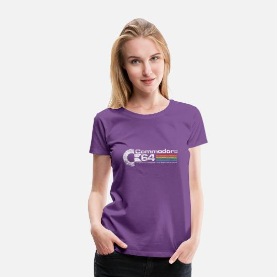 Retro T-Shirts - Commodore64 - Women's Premium T-Shirt purple
