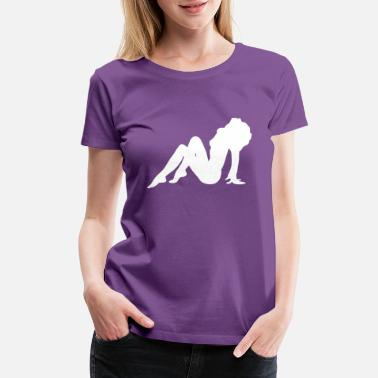 Naked Woman Naked Girl Silhouette - Women's Premium T-Shirt