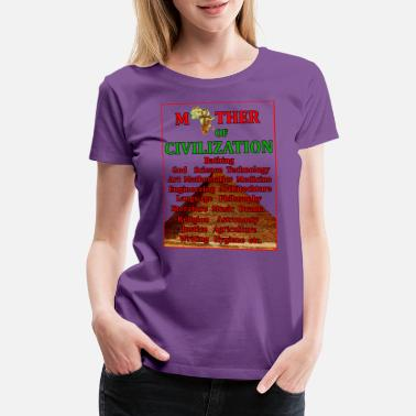 Ankh Africa mother of civilization pyramid - Women's Premium T-Shirt