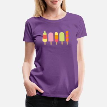 Ice Cream popsicles - Women's Premium T-Shirt