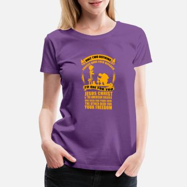 Soldier Of Jesus Christ Army and Christian - Jesus Christ and the soldier - Women's Premium T-Shirt