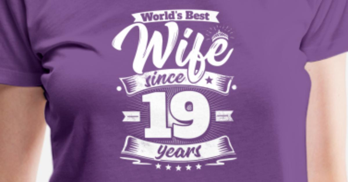 19 Wedding Anniversary Gifts By Year: Wedding Day 19th Anniversary Gift Wife Spouse Women's