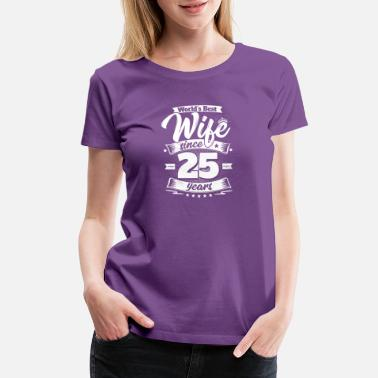 25th Wedding Anniversary Wedding Day 25th Anniversary Gift Wife Spouse - Women's Premium T-Shirt