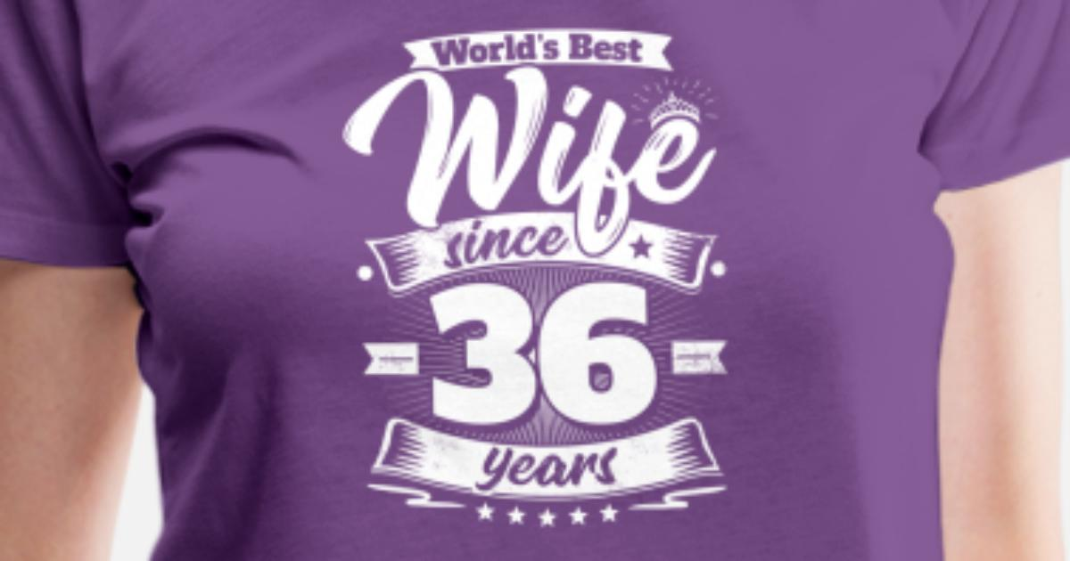36th Wedding Anniversary Gift: Wedding Day 36th Anniversary Gift Wife Spouse Women's