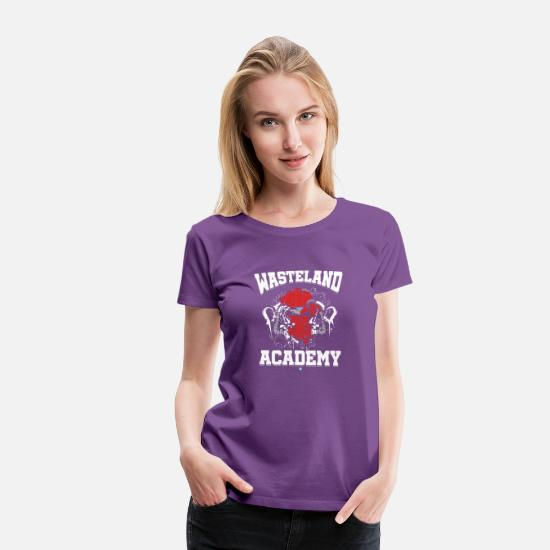 Zombie Apocalypse T-Shirts - Wasteland Academy Shirt Gifts - Women's Premium T-Shirt purple