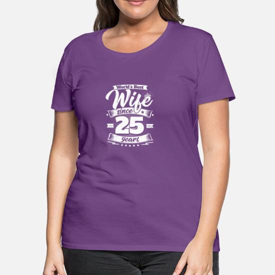 Wedding Day 25th Anniversary Gift Wife Spouse Women S Premium T