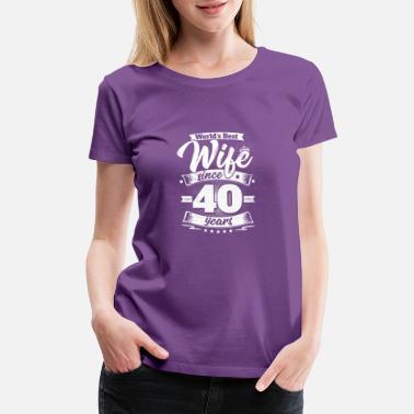 Shop 40th Wedding Anniversary T-Shirts