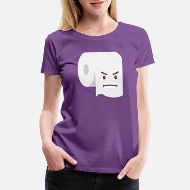 Goggley Eyes angry toilet paper! - Women's Premium T-Shirt