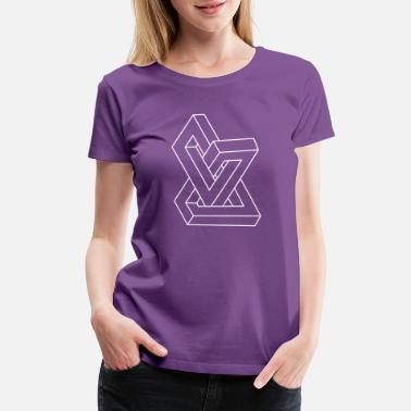 Tribar Optical illusion - Impossible figure - Women's Premium T-Shirt