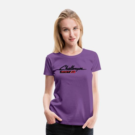 Challenger T-Shirts - DODGE CHALLENGER SRT8 - Women's Premium T-Shirt purple