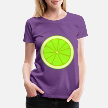 Adhesive Plaster Simple lime section - Women's Premium T-Shirt