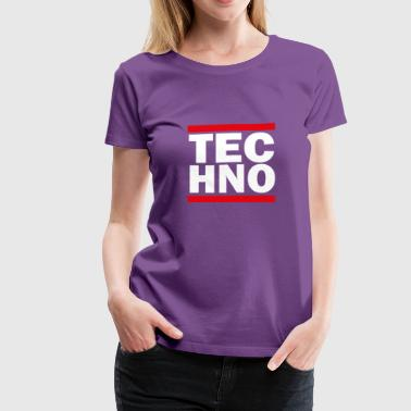 TECHNO RUN frenchcore raver ballern - Women's Premium T-Shirt