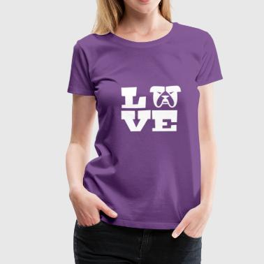 I Love my Bulldog - Women's Premium T-Shirt