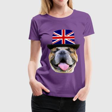 Englisch Bulldog Dog head, Dog face ,Dog breed , - Women's Premium T-Shirt