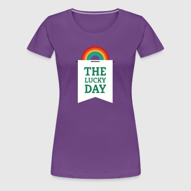 Lucky You - Rainbow Pennant - Women's Premium T-Shirt