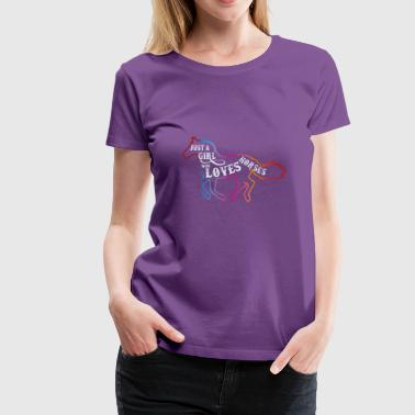 Just a Girl Who Loves Horses T-Shirt | Horse Lover - Women's Premium T-Shirt