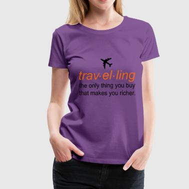 traveling - Women's Premium T-Shirt