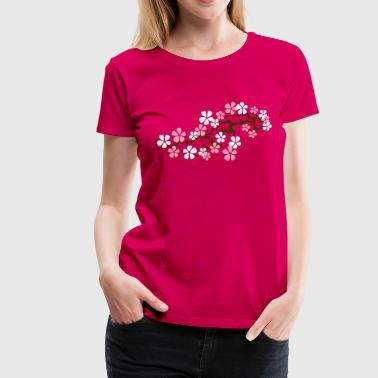Hanami Sakura right 2 - Women's Premium T-Shirt